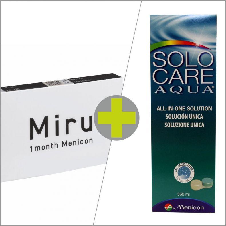 Miru 1 Month 6 Solo Care Aqua 360 Ml