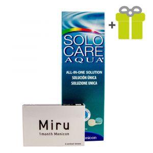 Komplekts mēnesim: Miru 1month (2) + SoloCare Aqua 360 ml