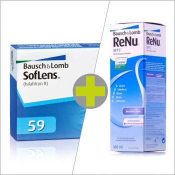 Soflens 59 (6) + ReNu MPS 360 ml