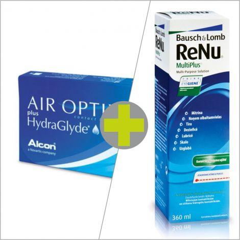Air Optix Hydraglide (6) + ReNu MultiPlus 360 ml