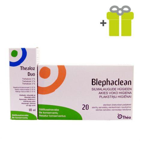 Mirdzošām acīm: Thealoz Duo 10 ml (1) + Blephaclean (1)
