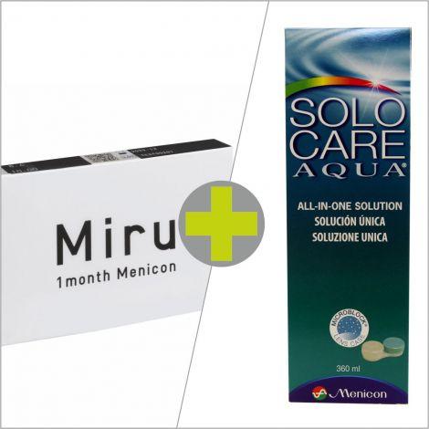 Miru 1 Month (6) + Solo Care Aqua 360 ml