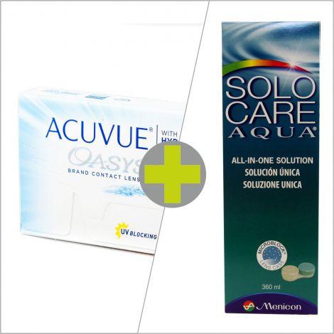 Acuvue Oasys (6) + Solo Care Aqua 360 ml