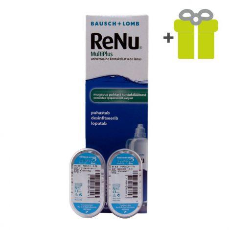 Komplekts mēnesim: PureVision 2 (2) + ReNu MultiPlus 360 ml (1)