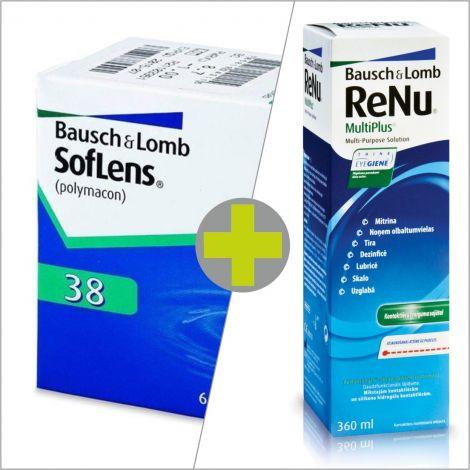 Soflens 38 (6) + ReNu MultiPlus 360 ml