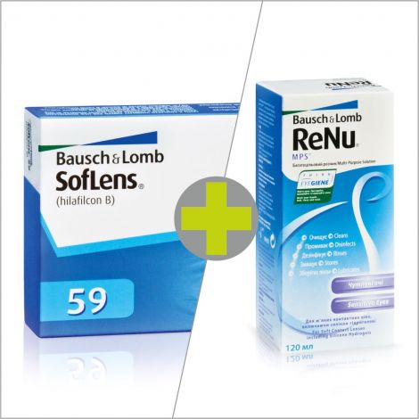 Soflens 59 (6) + ReNu MPS 120 ml